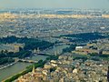 Paris city aerial view from Eiffel tower Stock Photography