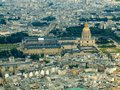 Paris city aerial view from Eiffel tower Royalty Free Stock Images