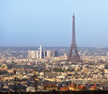 Paris city view with eiffel tower france from montmartre europe Stock Images