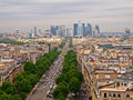 Paris city view to the Defense district Royalty Free Stock Photo