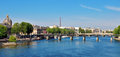 Paris cityscape over the river france Royalty Free Stock Images