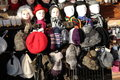 Paris clothing market in france Stock Image