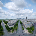 Paris Defense cityline Stock Image