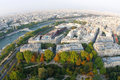 Paris from the Eiffel Tower Royalty Free Stock Photography