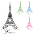 Paris Eiffel Tower Icon Stock Images