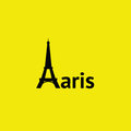 Paris eiffel tower in simple and clean icon representation Royalty Free Stock Photography