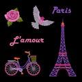 Paris embroidery set