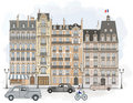 Paris - Facades Stock Images