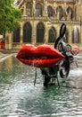 Paris, fountain at Centre Pompidou, National Modern Art Museum Royalty Free Stock Photo