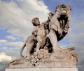 Paris, France, Alexander III Bridge statue Royalty Free Stock Photo
