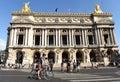 Paris, France - August 31, 2019: People neat the Paris Opera Opéra national de Paris Royalty Free Stock Photo