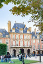 PARIS, FRANCE circa april 2016. , Place des Vosges. France. Place Royale lin Marais district.