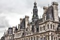 Paris france close up of hotel de ville city hall unesco world heritage site Royalty Free Stock Images