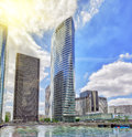 PARIS, FRANCE - JULY 06, 2016 :La Defense, Business Quarter with Royalty Free Stock Photo