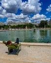 Paris, France, June 2019: Relaxing in the Tuileries Garden