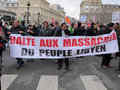 Paris, France, Libya Demonstration, Royalty Free Stock Photos