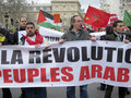 Paris, France, Libya Demonstration, Stock Photography