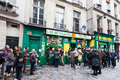 Paris france march jewish quarter le marais rue des rosiers major centre paris jewish community paris france march Stock Photo