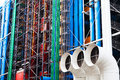 Paris france march wall centre georges pompidou centre was built gtm completed paris france march Stock Photo