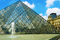 Paris france may the large glass pyramid and the main courtyard of the louvre museum on may the louvre museum is one of the Stock Photos
