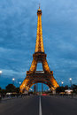 PARIS, FRANCE - OCTOBER 1: Tour Eiffel at Night on October 1, 20 Stock Photography