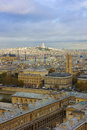 Paris, France, panoramic aerial view Stock Photo