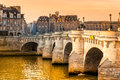 Paris france pont neuf ile de la cite Royalty Free Stock Photography