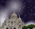 Paris france storm above city landmarks Royalty Free Stock Image