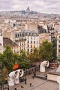 Paris, France. View of the city roofs from the observation gallery of the Georges Pompidou Center