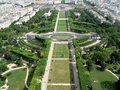 Paris Garden Champ de mars Royalty Free Stock Photo
