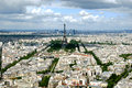 Paris from a height panoramic view of the city Royalty Free Stock Photo
