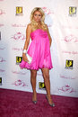 Paris hilton arriving at the beauty line launch party thompson hotel beverly hills ca november Royalty Free Stock Photography