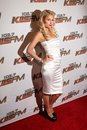 Paris hilton at kiis fm s wango tango concert staples center los angeles ca Stock Photography