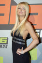 Paris Hilton on the red carpet Royalty Free Stock Image
