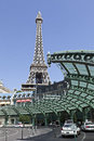 Paris Hotel and Casino in Las Vegas Stock Photo