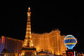 Paris Hotel In Las Vegas Royalty Free Stock Photo