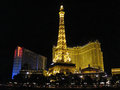 Paris hotel the in las vegas nevada Royalty Free Stock Photos
