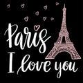Paris I love you Royalty Free Stock Photo