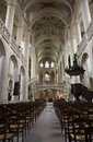 Paris - interior of Saint Etienne church Stock Photography