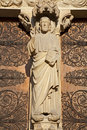 Paris - Jesus from main portal of Notre Dame Royalty Free Stock Images