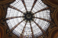 Paris la fayette galeries interior in france in beautiful colors Royalty Free Stock Image