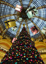 Paris - la France Galeries Lafayette Images stock
