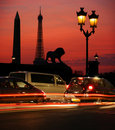 Paris la nuit Images stock