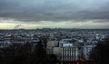 Paris landscape - cityscape from Sacré-Cœur Royalty Free Stock Photo