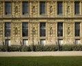 Paris: Le louvre (walls) Royalty Free Stock Photography