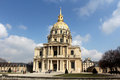 Paris les invalides tourists visiting a complex of buildings in france Royalty Free Stock Photos