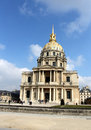 Paris les invalides tourists visiting a complex of buildings in france Royalty Free Stock Photography