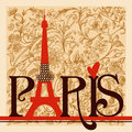 Paris lettering Royalty Free Stock Photo
