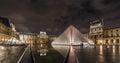 Paris Louvre Museum night view