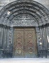 Paris - main portal of Saint Denis Stock Photography